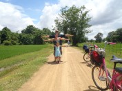 Ballade à vélo sur Don Khon