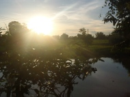 Vue de notre bungalow, Nely's Paradise 2, Don Det