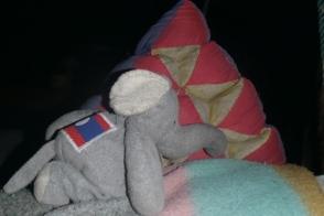 Doudou Elephant s'est fait tatouer le drapeau de ses ancêtres
