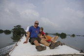 Bateau reliant Siam Reap à Battambang