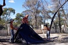 1er camping, 1er essai de la tente ultra légère