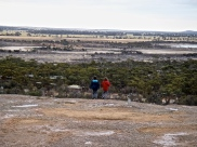 En haut de Wave Rock