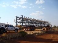 oversized road train