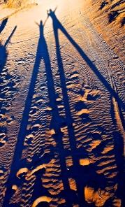 Hannah et gwen au coucher du soleil