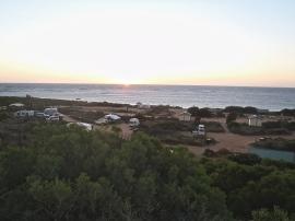 Coronation beach, coucher de soleil sur le camping