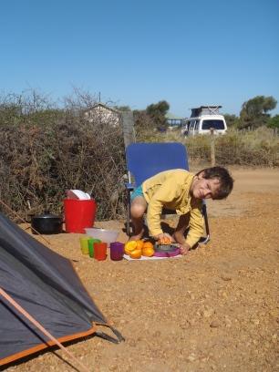 Coronation beach, le jus d'orange