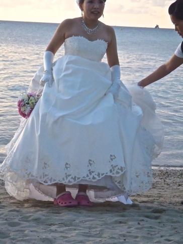 Mariée asiatique au Méridien...en crocs roses