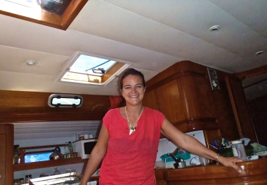 Navigation houleuse, en route pour l''îlot Casy