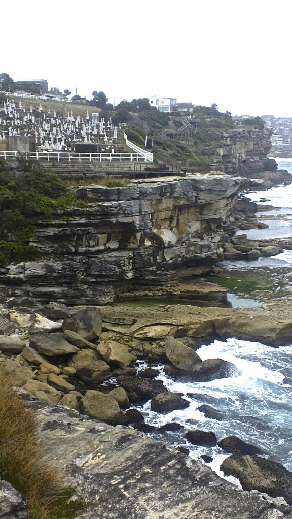 Cimetière face à la mer