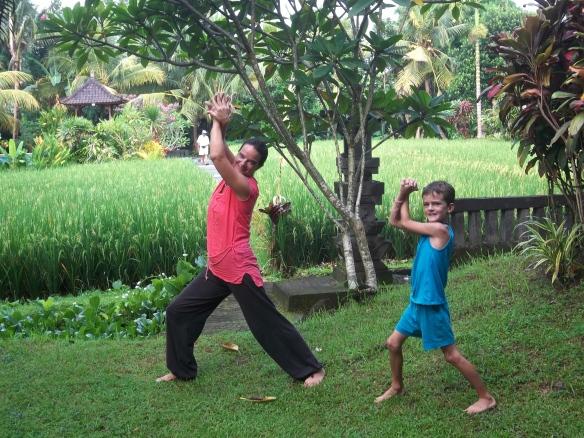 En route pour le cours de yoga! Salle de yoga