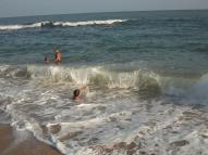 Grosses vagues de Tangalle