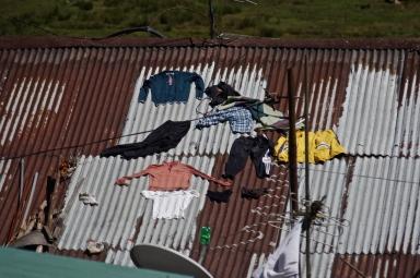 Linge sur le toit