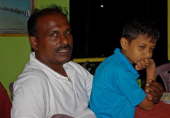 Shanta et son fils