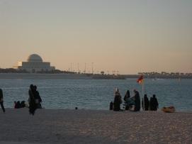 La plage d'Abu Dhabi
