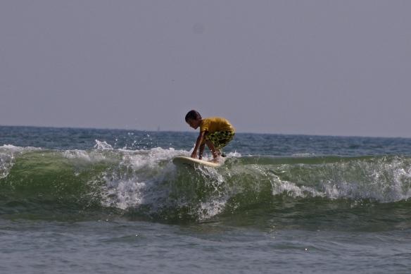 Maceo, deuxième journée de surf