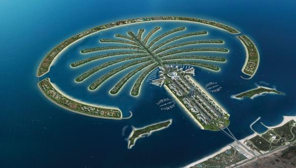 The Palm island, Dubai. Image yahoo